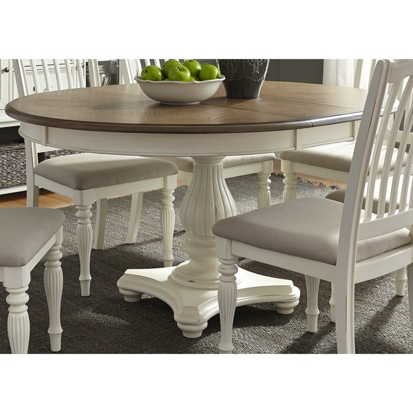 Cumberland Creek 48x60 Single Pedestal Oval Dinette Table   White
