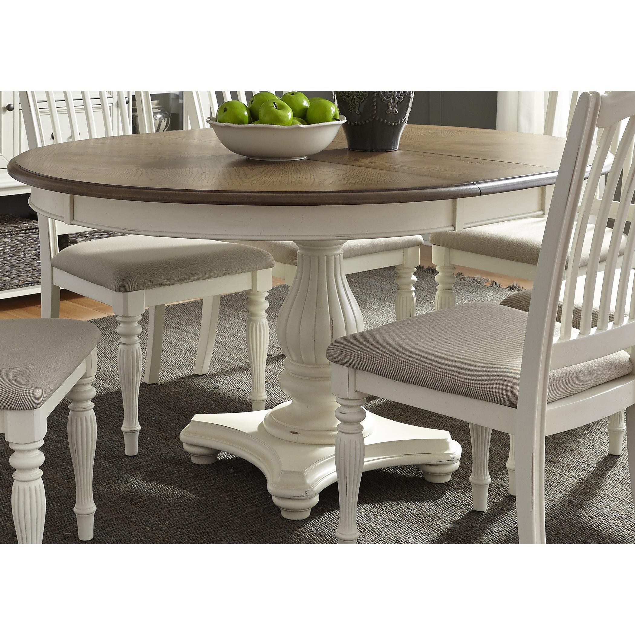 Cumberland Creek 48x60 Single Pedestal Oval Dinette Table - White ...