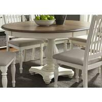 Maison Rouge Acton 48x60 Single Pedestal Oval Dinette Table - White
