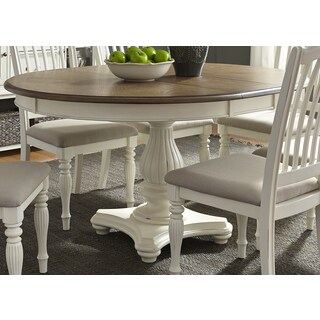 Cumberland Creek 48x60 Single Pedestal Oval Dinette Table - White