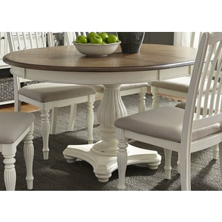 Awesome Cumberland Creek 48x60 Single Pedestal Oval Dinette Table   White