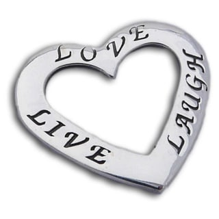 Handmade Sterling Silver 'Live, Love, Laugh' Heart Pendant (Thailand)
