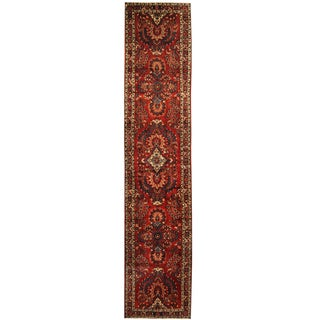 Herat Oriental Persian Hand-knotted Tribal Hamadan Wool Runner (2'9 x 12'9)