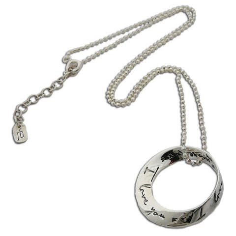 Handmade Sterling Silver 'I Love You More' 16-inch Necklace with Love Note (Thailand)
