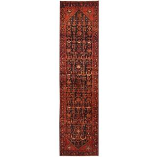 Herat Oriental Antique 1920's Persian Hand-knotted Tribal Hamadan Wool Runner (3'5 x 13'9)