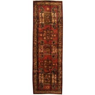 Herat Oriental Persian Hand-knotted Tribal Hamadan Wool Runner (4'3 x 13'1)