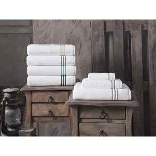 Broderie Embroidery 100-percent Turkish Cotton Bath Towels (Set of 2)