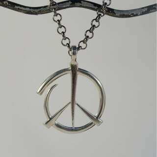 Handmade 'Give Peace a Chance' Pendant Necklace (Bali)