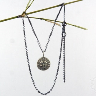 Spirit Sun Moon Fusion Pendant Necklace (Bali)