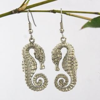 Handmade Spirit Tribal Fusion Seahorse Earrings (Bali)