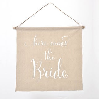 'Here Comes The Bride' Linen Wedding Banner