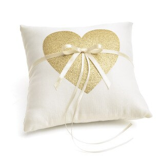 Gold Glitter Ring Bearer Pillow