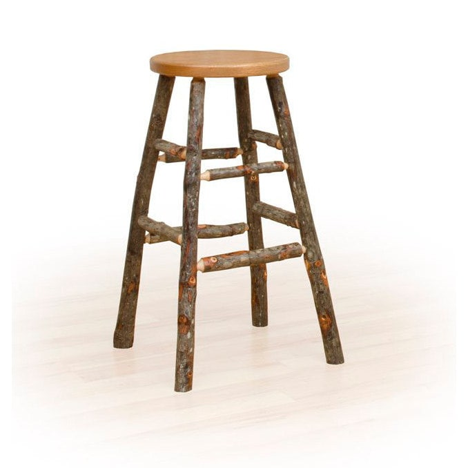 Rustic 30 Inch Bar Stool - Oak & Hickory or All Hickory (...