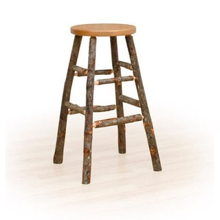 Rustic 30 Inch Bar Stool - Oak & Hickory or All Hickory