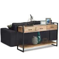 WYNDENHALL Lawson Natural Mango Wood Console Sofa Table