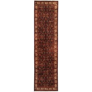 Herat Oriental Persian Hand-knotted Tribal Hamadan Wool Runner (3'9 x 14')