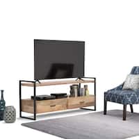 WYNDENHALL Lawson Natural Mango Wood 60-inch TV Media Stand for TVs up to 66 inches