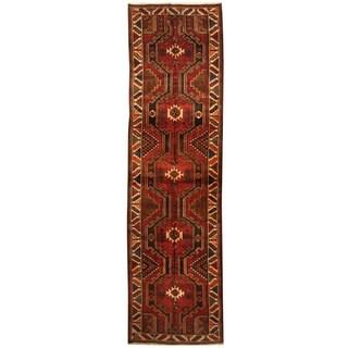 Herat Oriental Persian Hand-knotted Tribal Hamadan Wool Runner (3'9 x 13'8)