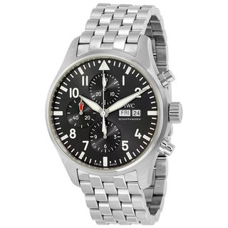 IWC Men's IW377719 'Pilot Spitfire' Chronograph Automatic Stainless Steel Watch