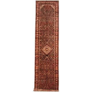 Herat Oriental Persian Hand-knotted Tribal Hamadan Wool Runner (3'7 x 15'4)
