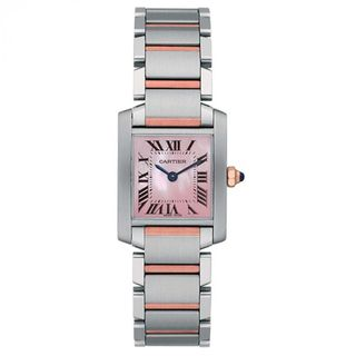 Cartier Women's W51027Q4 'Tank Francaise' 18k Rose Gold Two-Tone Stainless Steel Watch