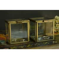 Handmade Clear Glass Square Decorative Box (India)