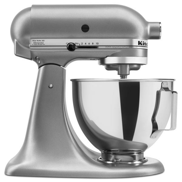 Shop Kitchenaid Ksm85pbsl Silver 4 5 Quart Tilt Head Stand
