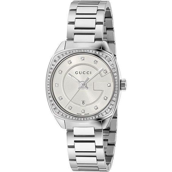 4fb94344bb7 Shop Gucci Women s YA142505  GG2570 Small  Diamond Stainless Steel Watch -  Free Shipping Today - Overstock - 13209974