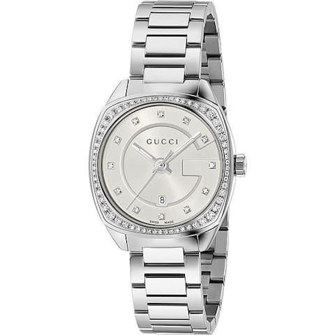 Gucci Women's YA142505 'GG2570 Small' Diamond Stainless Steel Watch