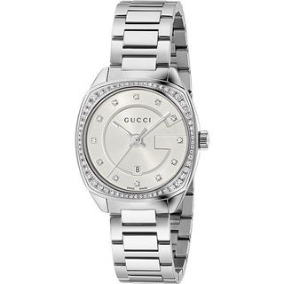 Gucci Women's YA142505 'GG2570 Small' Diamond Stainless Steel Watch