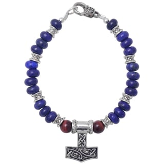 Healing Stones for You Lapis Lazuli Celtic Bracelet
