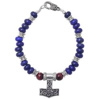 Healing Stones for You Lapis Lazuli Celtic Bracelet (USA)
