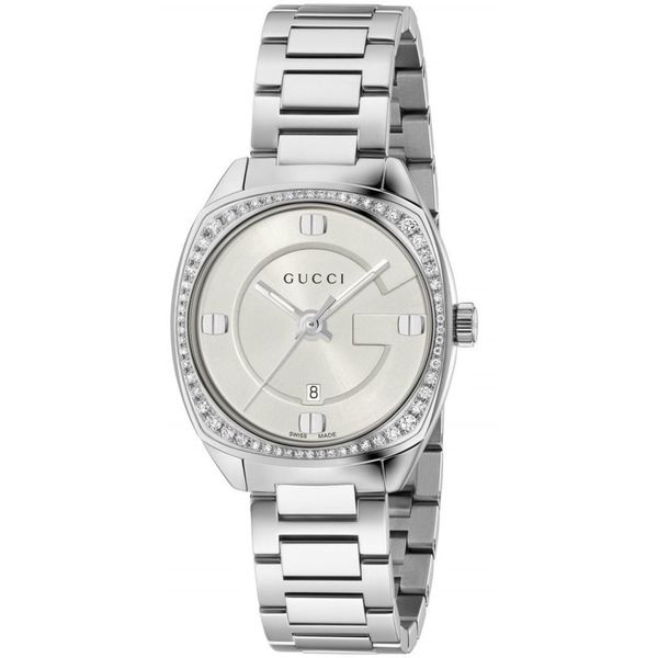893169a4436 Shop Gucci Women s YA142506  GG2570 Small  Diamond Stainless Steel Watch - Free  Shipping Today - Overstock - 13209977