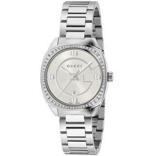 Gucci Women's YA142506 'GG2570 Small' Diamond Stainless Steel Watch