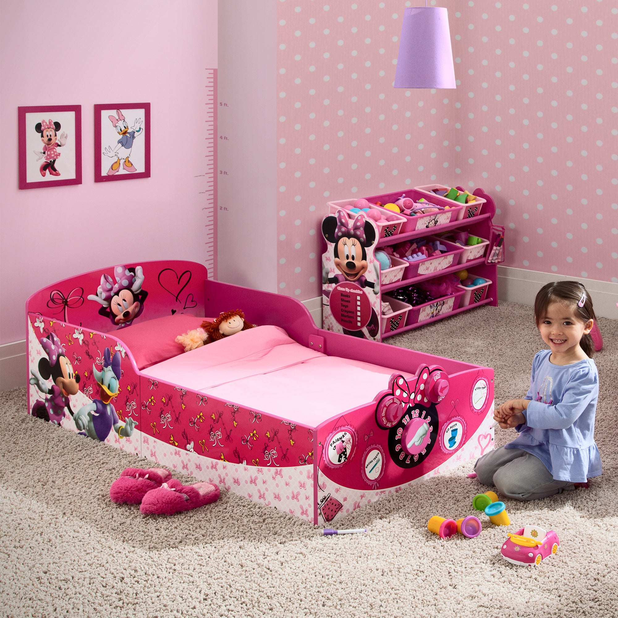 Disney Minnie Mouse Interactive Wood Toddler Bed (Minnie ...