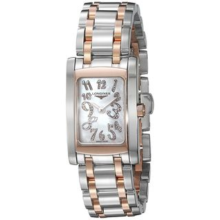 Link to Longines Women's L51555977 'Dolce Vita' 18kt Pink Gold Diamond Two-Tone Stainless Steel Watch Similar Items in Women's Watches