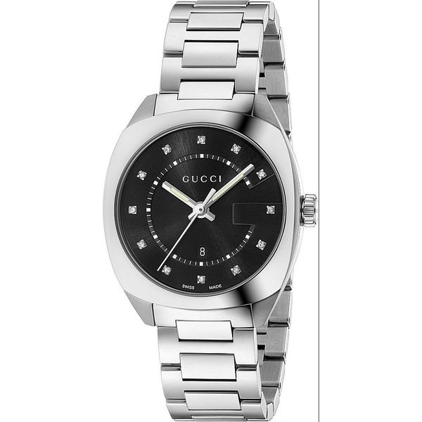 62792cc07ac Shop Gucci Women s YA142404  GG2570  Diamond Stainless Steel Watch - Free  Shipping Today - Overstock - 13210227