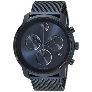 Movado Men's 3600403 'Bold' Chronograph Blue Stainless Steel Watch