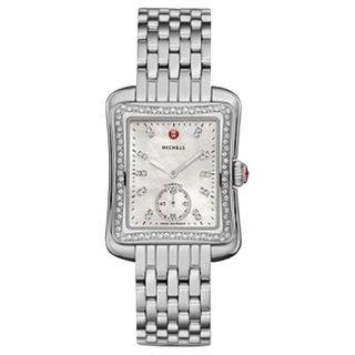 Michele Women's MWW06Y000014 'Deco Moderne II' Diamond Stainless Steel Watch