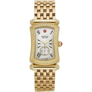 Michele Women's MWW16B000031 'Caber Park' Diamond Gold-Tone Stainless Steel Watch