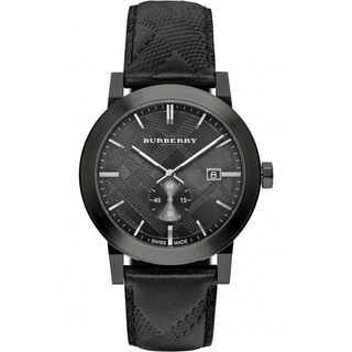Burberry Unisex BU9906 'The City' Black Leather Watch
