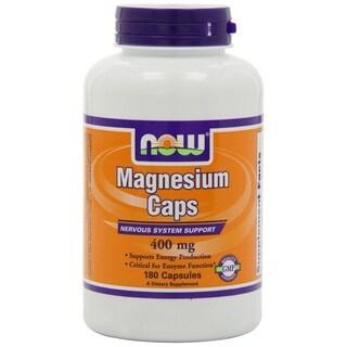 Now Foods 400-milligram Magnesium Capsules (Case of 180)