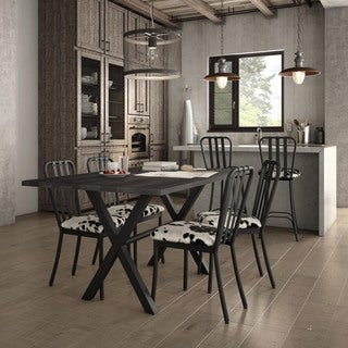 Amisco Club Metal Chairs and Alex Table, Dining Set