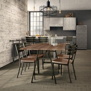 Carbon Loft Montgolfier Metal Chairs and Table Dining Set