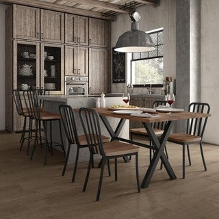 Carbon Loft Murdock Metal Chairs and Table Dining Set