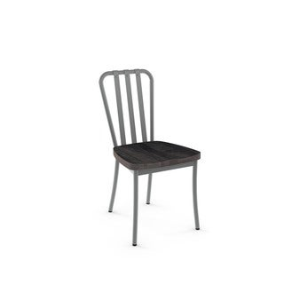 Amisco Bond Metal Chairs and Alex Table, Dining Set