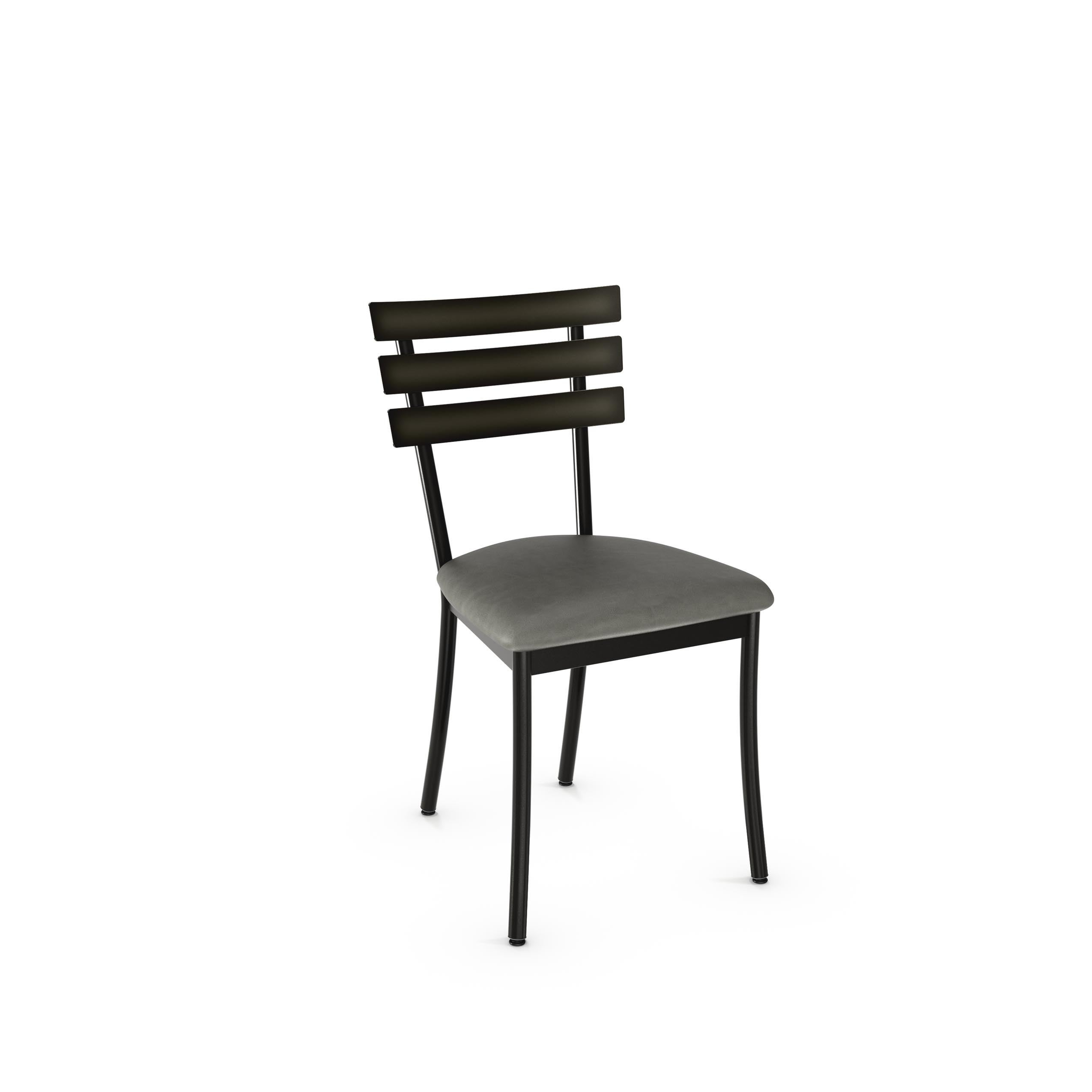 Amisco Unity Metal Chairs and Bridgeport Table Dining Set