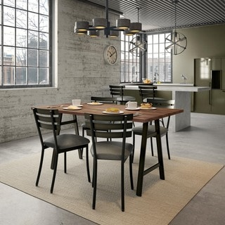 Amisco Unity Metal Chairs and Bridgeport Table, Dining Set