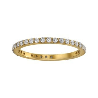 Beverly Hills Charm 14K Yellow Gold 1/2ct TDW Diamond Eternity Band Ring