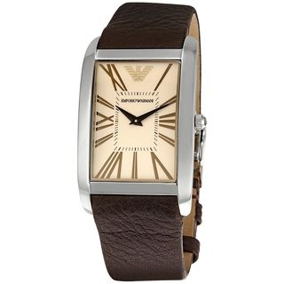 Emporio Armani Men's AR2032 'Super Slim' Brown Leather Watch